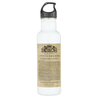 Proclamation by the King for Suppressing Rebellion 710 Ml Water Bottle