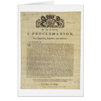 Proclamation by the King for Suppressing Rebellion Cards