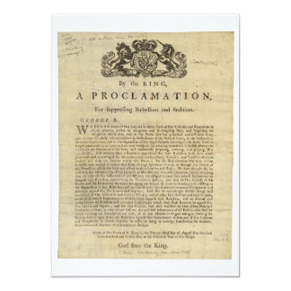 Proclamation by the King for Suppressing Rebellion Custom Invitations