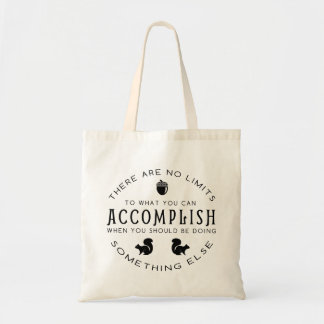 Procrastination - Black Graphic on Tote Bag