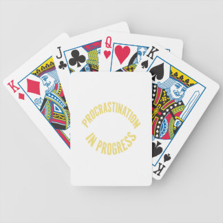 Procrastination in Progress - Customize Background Bicycle Playing Cards