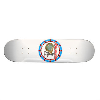 Procrastination is the Thief of Time 18.1 Cm Old School Skateboard Deck