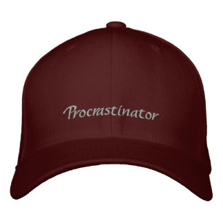 Procrastinator Cap / Hat Embroidered Hats