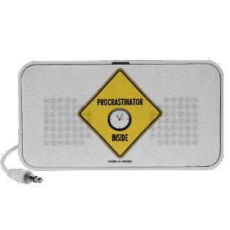 Procrastinator Clock Inside Warning Sign Laptop Speakers