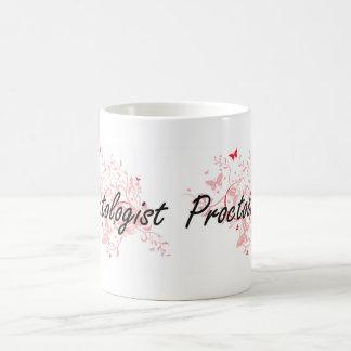 Proctologist Artistic Job Design with Butterflies Basic White Mug
