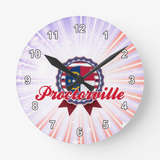 Proctorville, NC Round Wall Clock