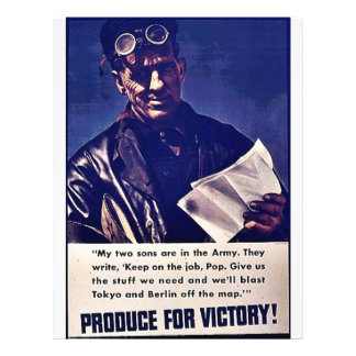 Produce For Victory! 21.5 Cm X 28 Cm Flyer