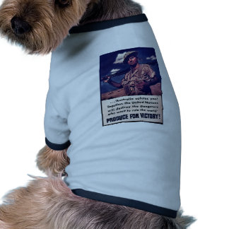 Produce For Victory! Pet Tee Shirt