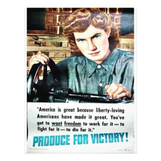 Produce For Victory 21.5 Cm X 28 Cm Flyer