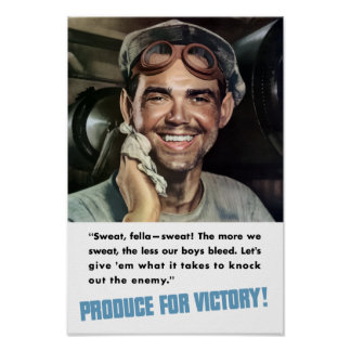 Produce For Victory! WWII Print