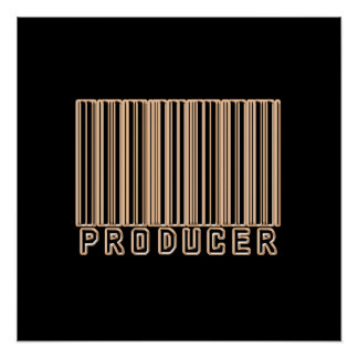 Producer Barcode Poster