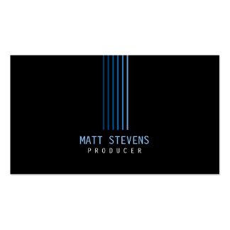 Producer Business Card Blue Beams