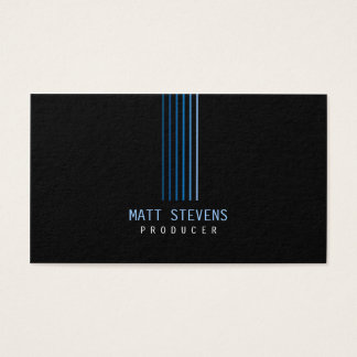 Producer Business Card Blue Beams