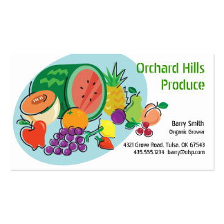 Producer Grower/Vendor_Totally Fruity_blue oval Business Cards