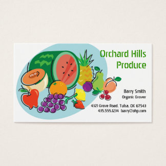 Producer Grower/Vendor_Totally Fruity_blue oval Business Card