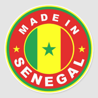 product country flag label made in senegal stickers