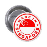 product country flag label made in singapore 6 cm round badge