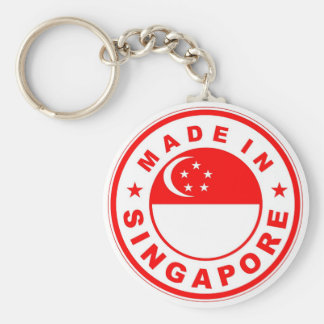 product country flag label made in singapore key ring