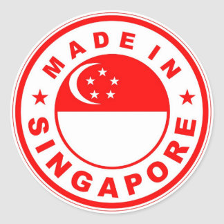 product country flag label made in singapore round stickers