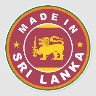 product country flag label made in sri lanka sticker