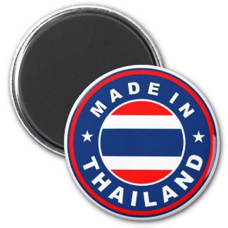 product country flag label made in thailand 6 cm round magnet