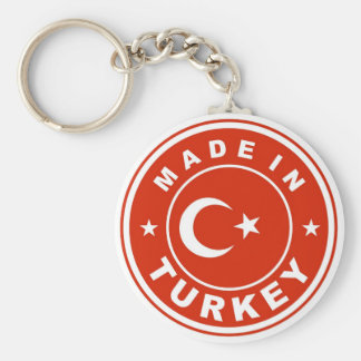 product country flag label made in turkey key ring