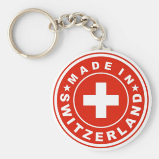 product country flag label made switzerland swiss key ring