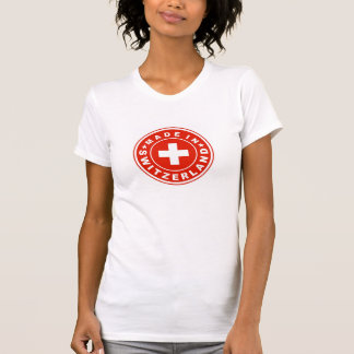product country flag label made switzerland swiss T-Shirt