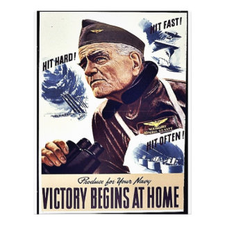 Product For Your Navy, Victory Begins At Home 21.5 Cm X 28 Cm Flyer