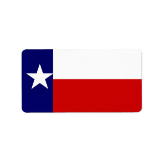 Product Labels Texas Lone Star Flag State Design