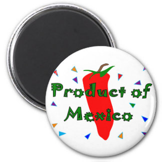 Product of Mexico Red Chilli Pepper T-Shirts Refrigerator Magnets