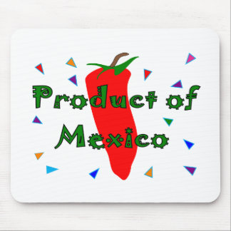 Product of Mexico Red Chilli Pepper T-Shirts Mouse Mat
