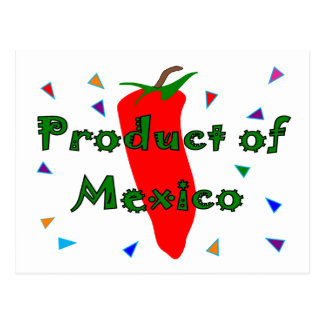 Product of Mexico Red Chilli Pepper T-Shirts Postcards