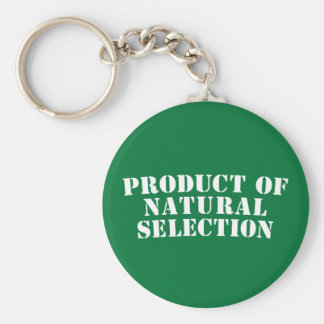 Product Of Natural Selection Basic Round Button Key Ring