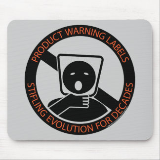 Product-warning-labels Mouse Mat