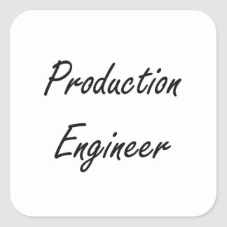 Production Engineer Artistic Job Design Square Sticker