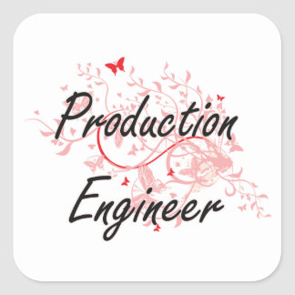 Production Engineer Artistic Job Design with Butte Square Sticker