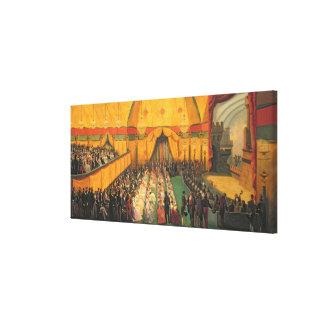 Production of `Richard the Lionheart' Canvas Print