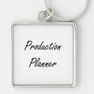 Production Planner Artistic Job Design Silver-Colored Square Keychain