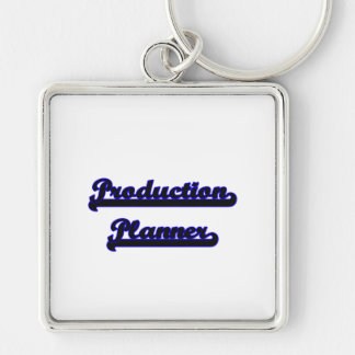 Production Planner Classic Job Design Silver-Colored Square Keychain