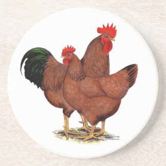 Production Red Chickens Coaster