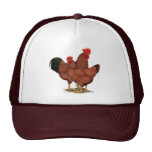 Production Red Chickens Trucker Hat