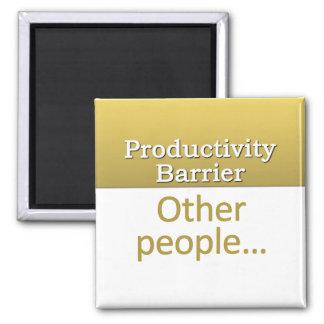 Productivity Barrier Definition Square Magnet