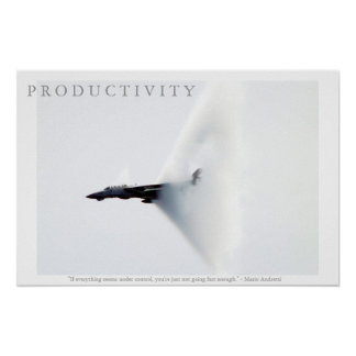 PRODUCTIVITY Motivational Airplane Andretti Poster