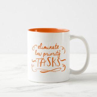 Productivity Motivational Two Tone Mug