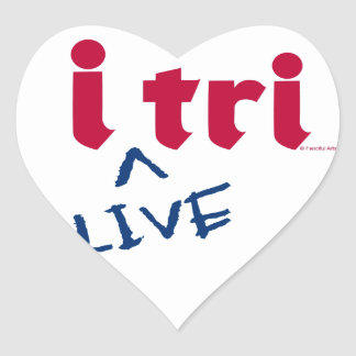 "products ""i tri"" red with blue ""LIVE"" Stickers"