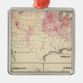 Products raised in 1870 Wheat Dairy Products Corn Christmas Ornament