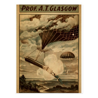 Prof A T Glasgow Vintage Theater Post Card