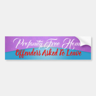 Profanity Free Home Sticker