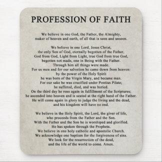Profession of Faith Mousepad